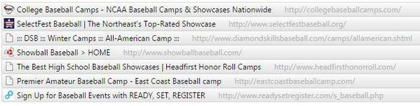 Camps Showcases