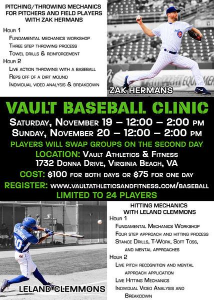 Vault Baseball Clinic Flyer