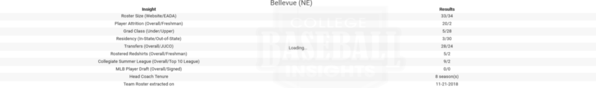 Bellevue 2018 Team Insights