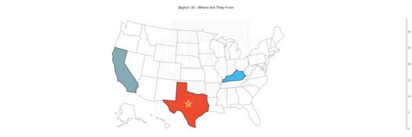Baylor 2020 Distribution by State