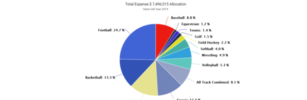 01-Seton Hill 2019 Expense by Sport