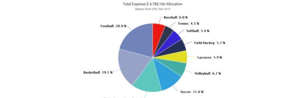 01-Slippery Rock 2019 Expense by Sport