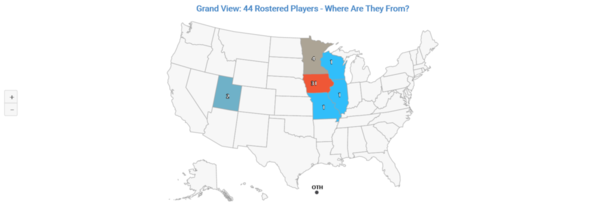 01 Grandview Player Distribution by State