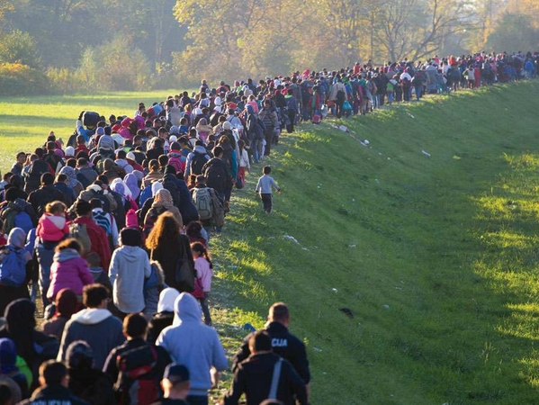 refugees-line-officials-Middle-East-Slovenia-Iraq-October-25-2015