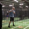 Batting practice cage and field